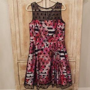 ELIZA J  Polka Dot Tulle Dress